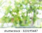 green bokeh | Shutterstock . vector #323195687