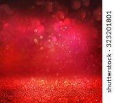 defocused abstract red lights... | Shutterstock . vector #323201801