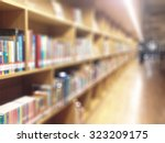 blur school library with book