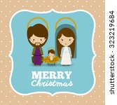 merry christmas concept with... | Shutterstock .eps vector #323219684