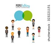 people talking design  vector... | Shutterstock .eps vector #323221151