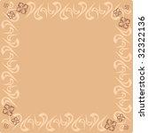 the drawn square framework in... | Shutterstock .eps vector #32322136