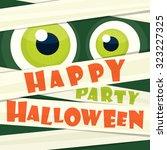 happy halloween party  | Shutterstock .eps vector #323227325
