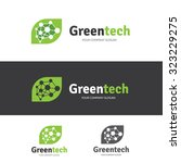 green technology logo template | Shutterstock .eps vector #323229275