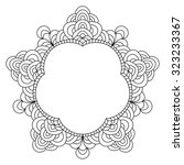 Abstract Mandala Frame Mehndi...