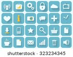 set of 24 retro icons for your... | Shutterstock .eps vector #323234345