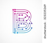 Abstract Letter B Logo Design...