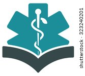 medical knowledge glyph icon....   Shutterstock . vector #323240201