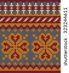 knitted autumn seamless pattern   Shutterstock .eps vector #323244611