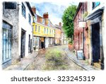 Watercolour Painting Of Ancien...