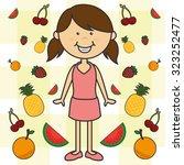 kids nutrition design  vector... | Shutterstock .eps vector #323252477