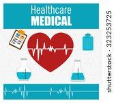 healthcare medical design ... | Shutterstock .eps vector #323253725