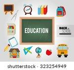 back to school design  vector... | Shutterstock .eps vector #323254949