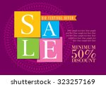 sale shopping background and... | Shutterstock .eps vector #323257169