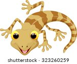 Illustration Of Cute Lizard...