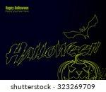 halloween vector background... | Shutterstock .eps vector #323269709