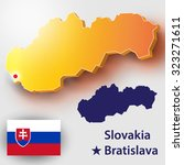 map of slovakia. vector... | Shutterstock .eps vector #323271611
