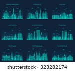 europe skylines detailed... | Shutterstock .eps vector #323282174