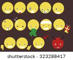 smiley icons | Shutterstock .eps vector #323288417