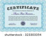 certificate of achievement.... | Shutterstock .eps vector #323303354