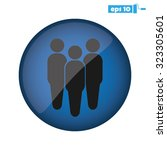 three people | Shutterstock .eps vector #323305601