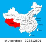 tibet province map  china... | Shutterstock .eps vector #323312801