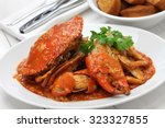 chilli mud crab with fried... | Shutterstock . vector #323327855