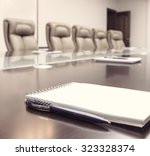 conference room before meeting  ... | Shutterstock . vector #323328374
