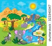 cute african animals | Shutterstock .eps vector #323340347