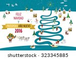cute eskimos characters... | Shutterstock .eps vector #323345885