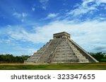 mayan pyramid of kukulkan in... | Shutterstock . vector #323347655