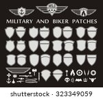 military and biker patches with ...