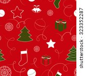 christmas background with bells ... | Shutterstock .eps vector #323352287