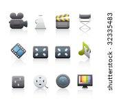 film equipments icon set. | Shutterstock .eps vector #32335483