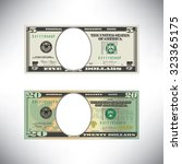 stylized money loses face   Shutterstock .eps vector #323365175