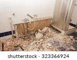 bathroom renovation background | Shutterstock . vector #323366924