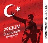 29th october national republic... | Shutterstock .eps vector #323373137