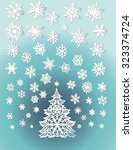 abstract white christmas tree... | Shutterstock .eps vector #323374724