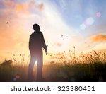 faith god and mental health... | Shutterstock . vector #323380451