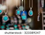 Hand Made Oval Pendants With...
