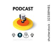 podcast icon  vector symbol in...
