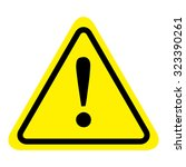 warning sign icon  isolated on... | Shutterstock .eps vector #323390261