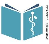drug handbook vector icon.... | Shutterstock .eps vector #323395661
