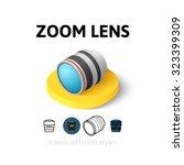 zoom lens icon  vector symbol...