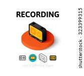 recording icon  vector symbol...