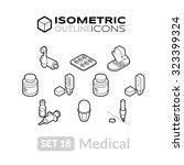 isometric outline icons  3d...   Shutterstock .eps vector #323399324