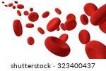red blood cells  3d render... | Shutterstock . vector #323400437