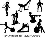 The Set Of 8 Fitness Silhouette