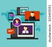 webinar online training... | Shutterstock .eps vector #323405051