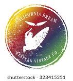 california dream symbol with...